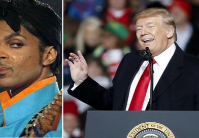 Donald Trump  Prince-dallal kampányol