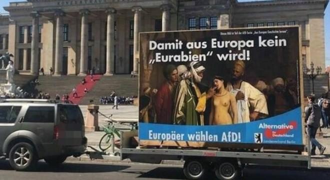 Brutális plakáttal kampányol az AFD az EP-re